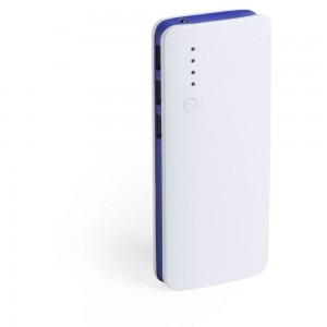 Power bank 10000 mAh, lampka LED V3856-04 (kolor: niebieski)